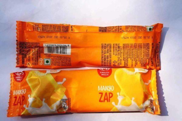 Mango zap ice-cream