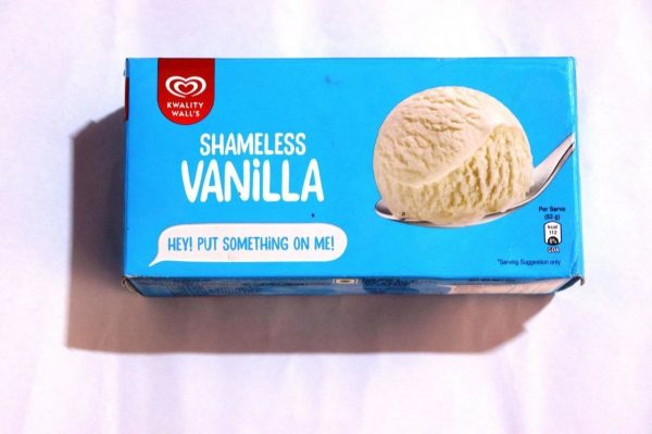 family pack vanilla ice cream