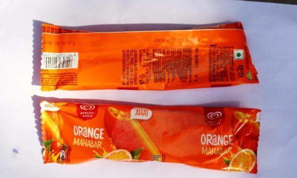 paddle pop orange ice-cream